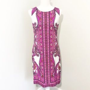 INC Sleeveless Paisley Dress